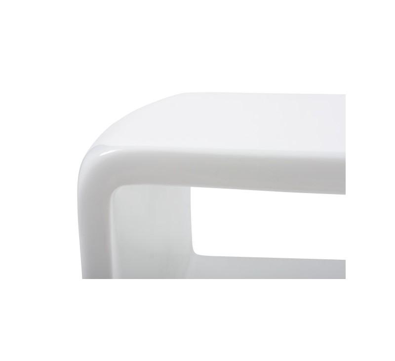 Table basse design blanche en fibre de verre - Table basse fibre de verre ...