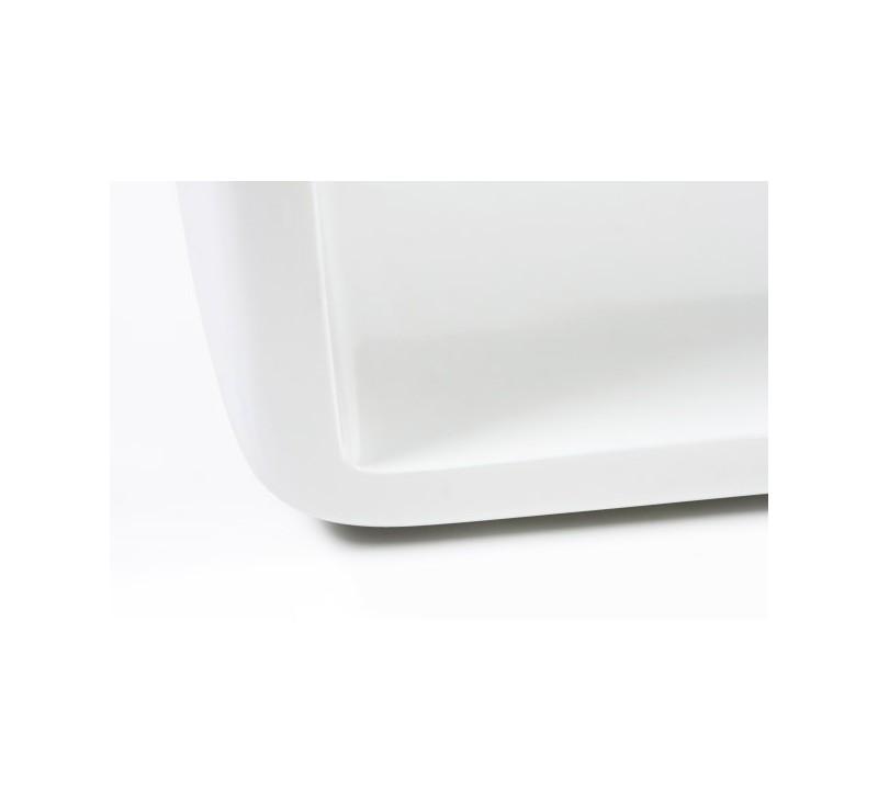 Table Basse Design Blanche En Fibre De Verre