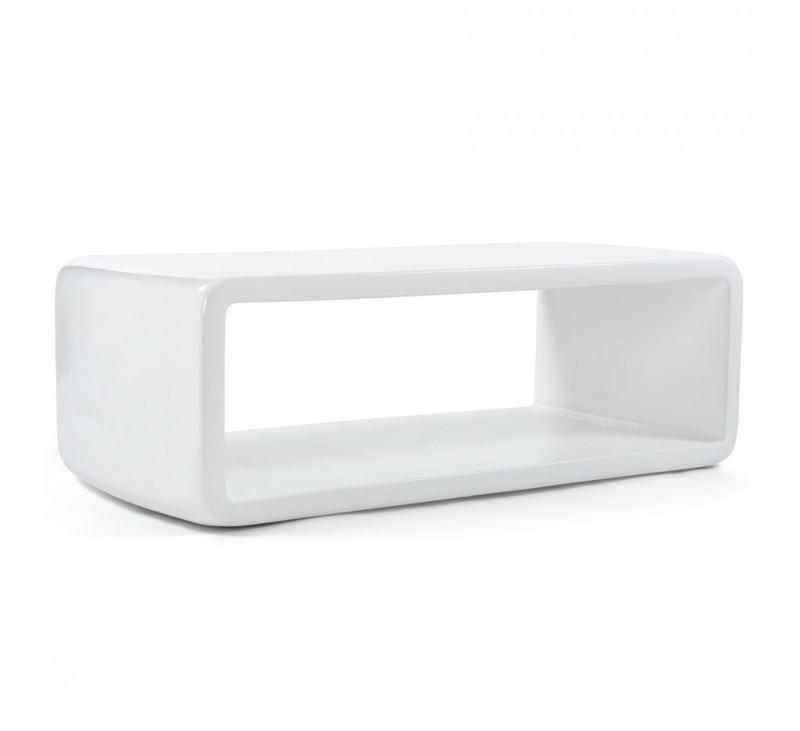 Table Basse Design Fiber Fibre De Verre Blanc