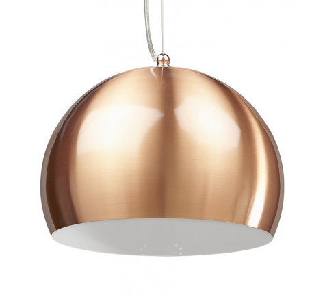Suspension boule BAILA design aluminium couleur Cuivre Rosé