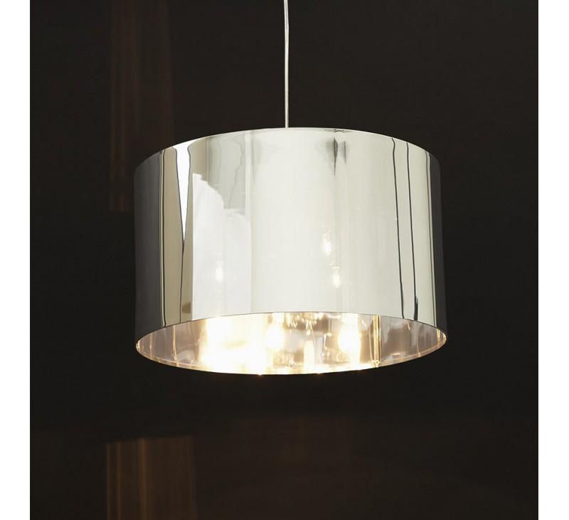 perfect suspension akiro design abatjour rond plastique couleur chrome with abat jour chambre. Black Bedroom Furniture Sets. Home Design Ideas