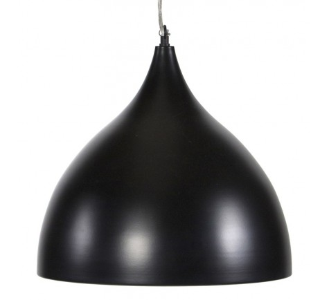 Suspension Cloche PRIXIA design  en Métal peint Noir