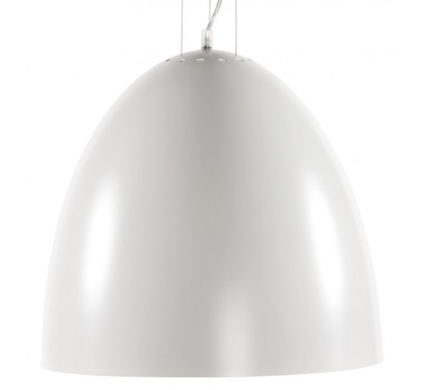 Suspension Cloche XENA design  en Aluminium peint Blanc