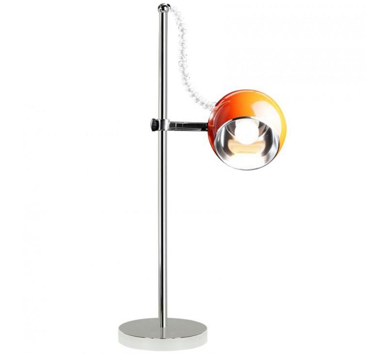 Lampe de bureau design m tal chrom disponible en blanc - Lampe de bureau design ...