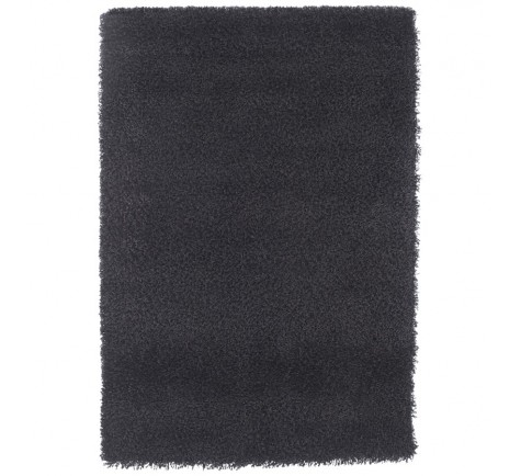 tapis design poils longs noir disponible en cr me gris. Black Bedroom Furniture Sets. Home Design Ideas