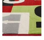 Tapis design KOOL 160/230 CM à poils long Multicolore