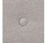 Canapé tissu gris capitonné ELIAS