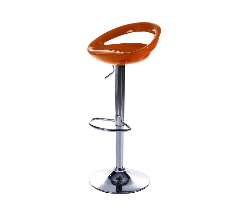 tabouret de bar design orange assise et dossier coque en abs r glable en hauteur par v rin. Black Bedroom Furniture Sets. Home Design Ideas
