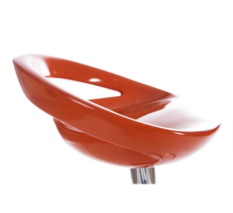 tabouret de bar design orange assise et dossier coque en. Black Bedroom Furniture Sets. Home Design Ideas