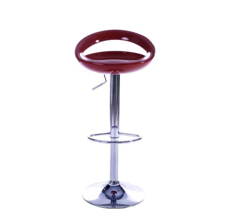 tabouret de bar design blanc assise et dossier coque en abs r glable en hauteur par v rin. Black Bedroom Furniture Sets. Home Design Ideas