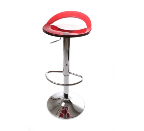 tabouret de bar design rouge en plexiglas r glable en hauteur. Black Bedroom Furniture Sets. Home Design Ideas
