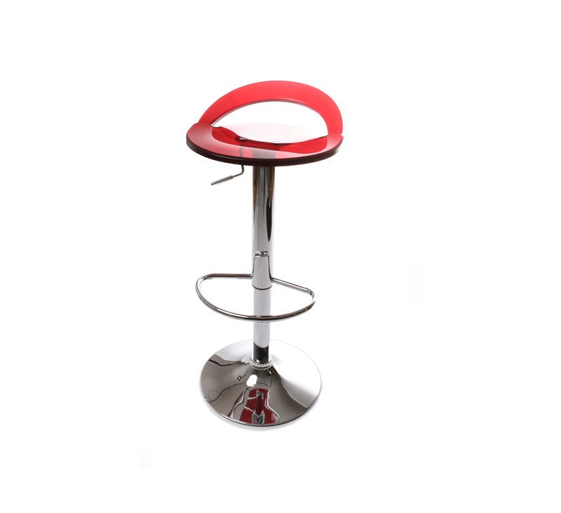 tabouret de bar design rouge en plexiglas r glable en. Black Bedroom Furniture Sets. Home Design Ideas