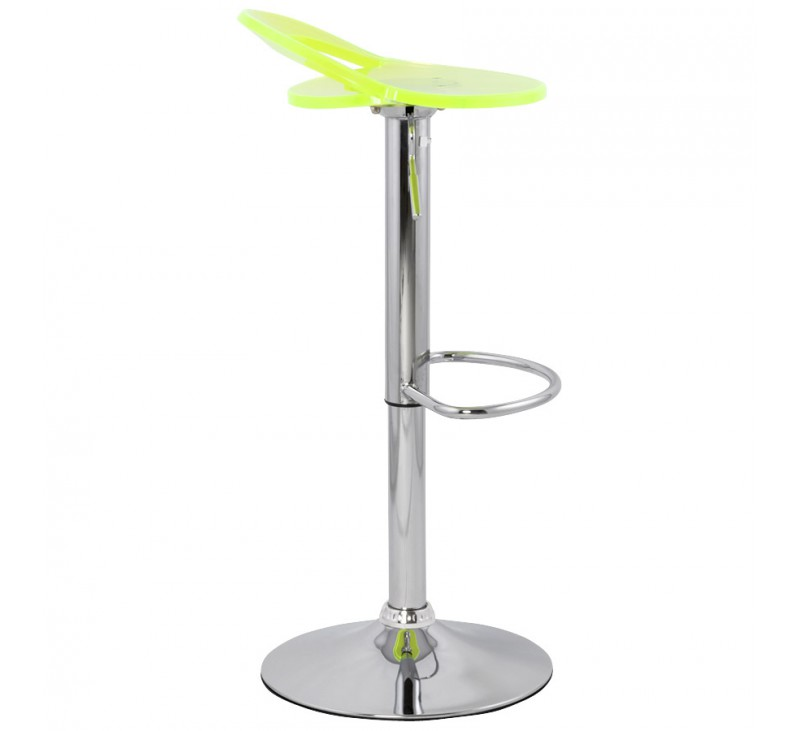 tabouret de bar design jaune fluo en plexiglas r glable en hauteur. Black Bedroom Furniture Sets. Home Design Ideas