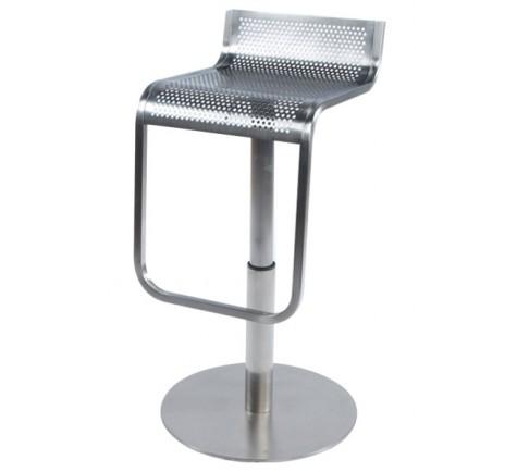 tabouret de bar metalo gris en acier bross dkoshop. Black Bedroom Furniture Sets. Home Design Ideas
