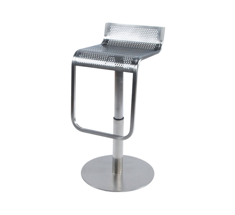 tabouret de bar metalo gris en acier bross dkoshop. Black Bedroom Furniture Sets. Home Design Ideas
