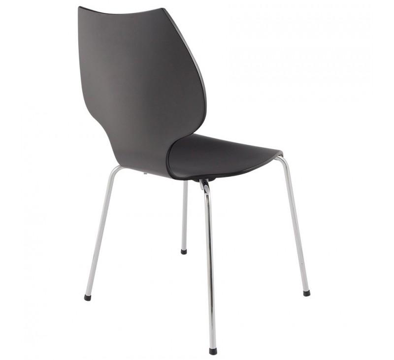 chaise moderne bois cintr noir ou blanc. Black Bedroom Furniture Sets. Home Design Ideas