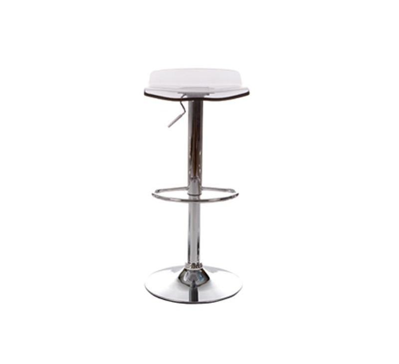 Tabouret de bar en plexiglass en coloris blanc gris noir ou bleu for Tabouret de bar blanc