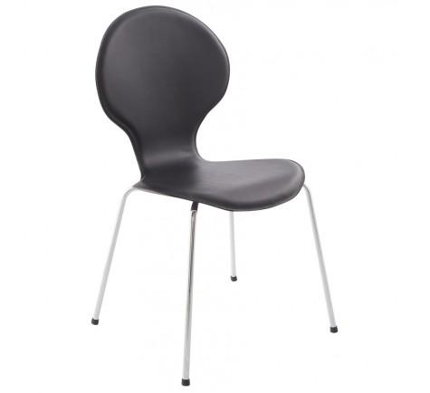 Chaise similicuir STELLA Noir