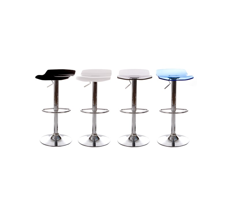 tabouret de bar en plexiglass en coloris blanc gris noir. Black Bedroom Furniture Sets. Home Design Ideas