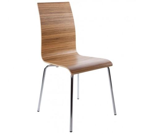 Chaise moderne LINEA Zebrano