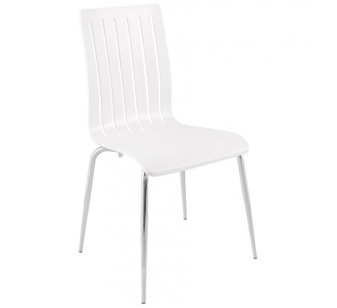 Chaise design WOOD Blanc
