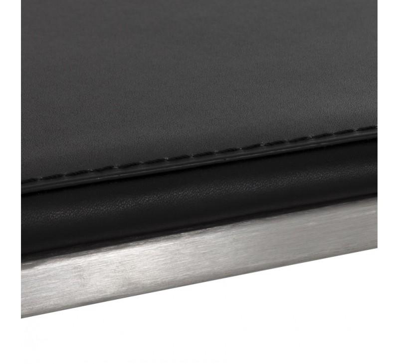 Tabouret de bar RETRO avec en similicuir Noir et acier ...
