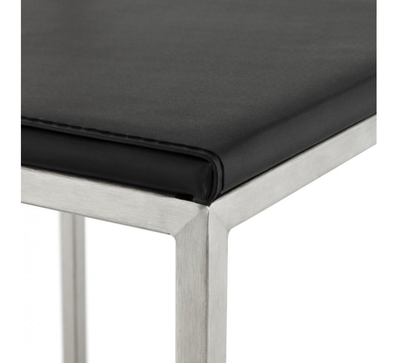 tabouret de bar retro avec en similicuir blanc et acier dkoshop. Black Bedroom Furniture Sets. Home Design Ideas