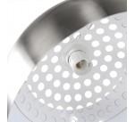 Lampadaire design RETRO  XXL  acier brossé