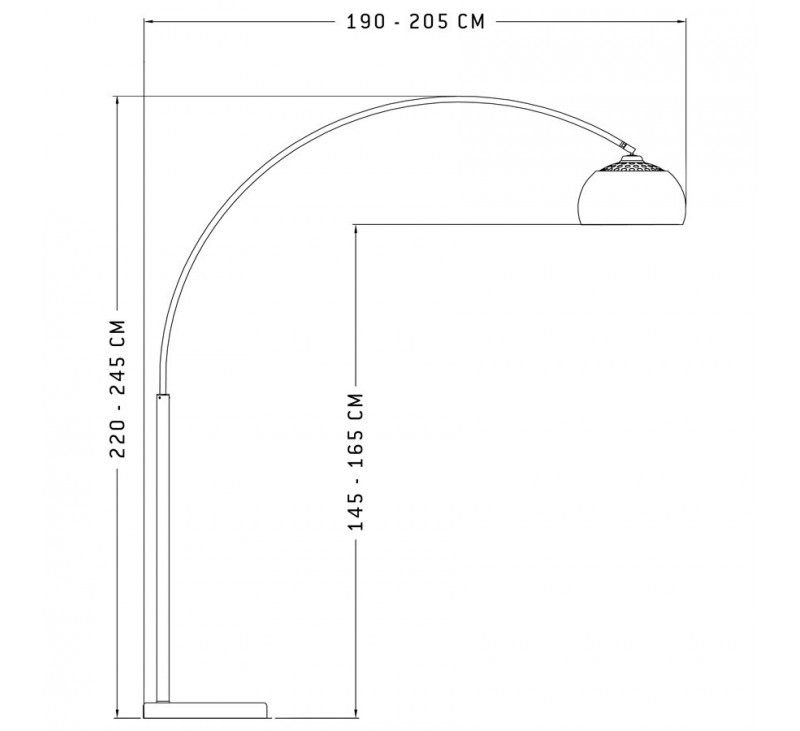 lampadaire arc design retro acier bross. Black Bedroom Furniture Sets. Home Design Ideas