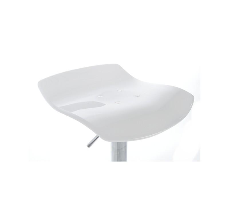 tabouret de bar en plexiglass en coloris blanc gris noir. Black Bedroom Furniture Sets. Home Design Ideas