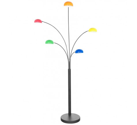 Lampadaire design STARLIGHT  5 branches  métal Multicoloris